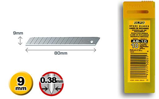 <p>10 standard-duty nožića u plastičnoj kutiji sa prostorom za uklanjanje.</p>