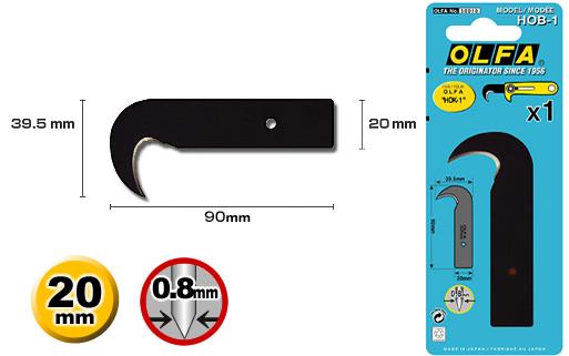 <p>Veliki kukasti nožić za HOK-1 skalpele</p>