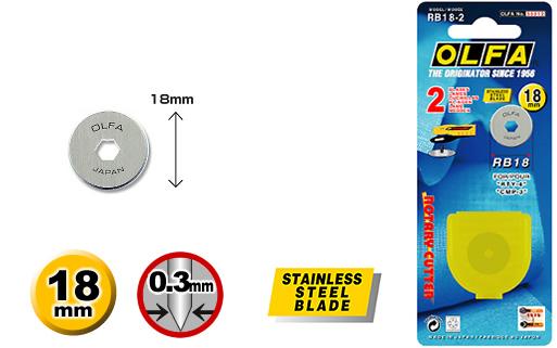 <p>2 rotaciona nožića u od 18mm u plastičnoj kutiji.</p>