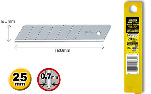 <p>Rezervni nožić iz serije HB, sirine 25 mm, koji se koristi za sve OLFA skalpele iz serije H.</p>