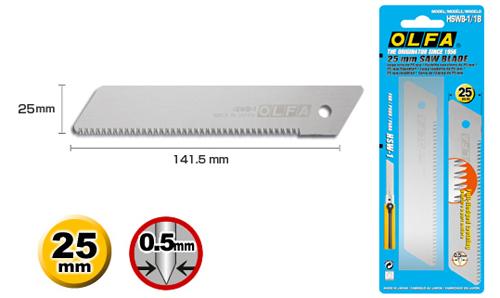 <p>Uložak testerice za drvo, širine 25 mm, koristi se za sve OLFA skalpele iz serije H.</p>