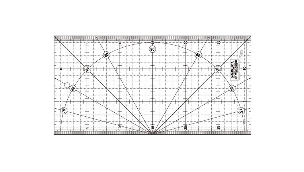 <p>Lenjir za precizno merenje sa istaknutim metričkim modelom mreže i uglomerom.</p>