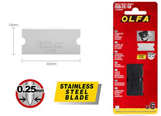 <p>Rezervni nožić koji se koristi za OLFA strugač GSR-2.</p>