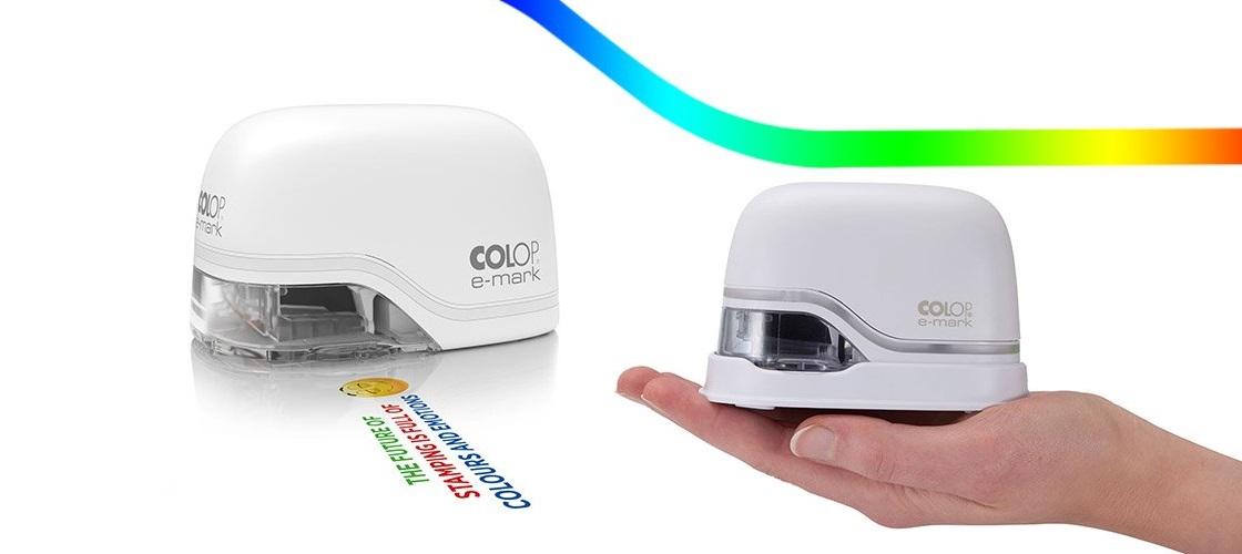 <p>COLOP E-Mark čini štampu u koloru direktno na maltene bilo koju površinu mogućom, jednostavnim pomeranjem uređaja u stranu.</p>